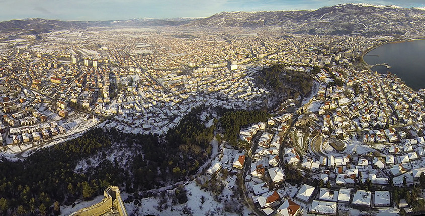 100 meters above Samoil's fortress - - Ohrid aerial photos