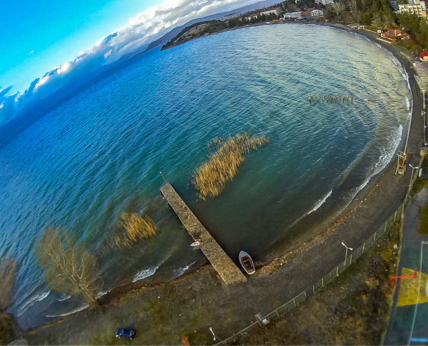 Ohrid lake aerial photography
