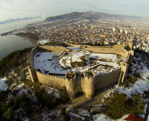 Samoil fortress aerial photography