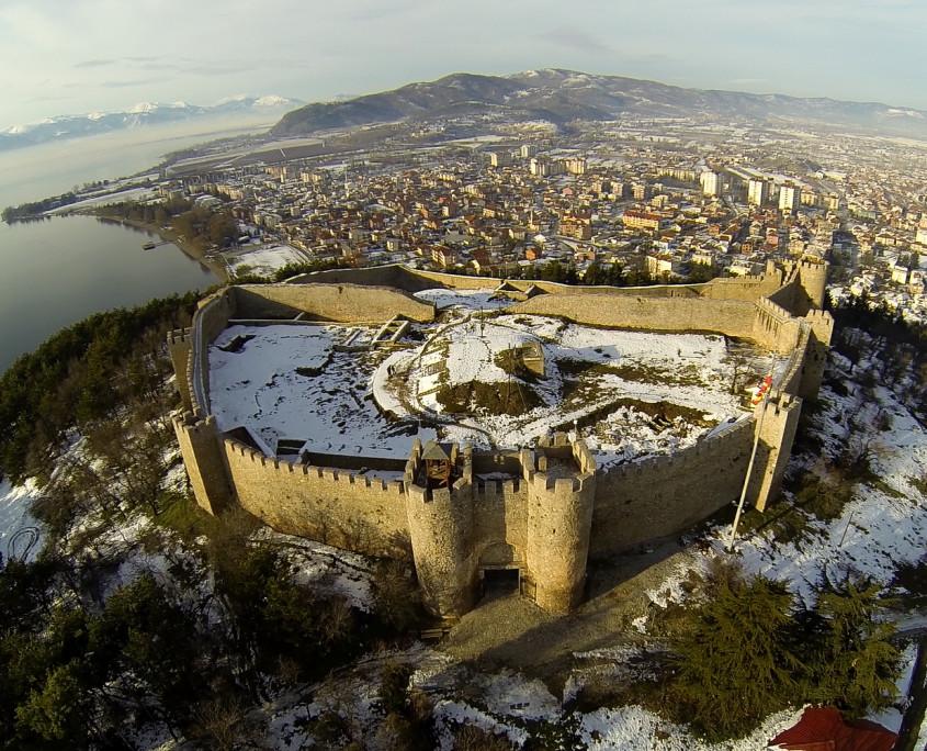 Samoil fortress - Ohrid aerial photos