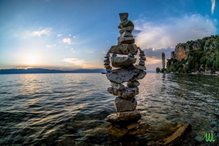 The girl - stone balancing