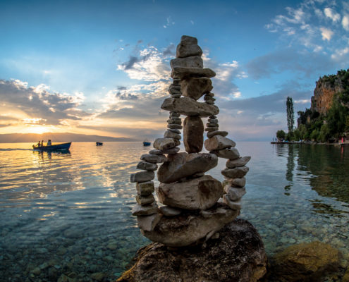 Pear - stone balancing