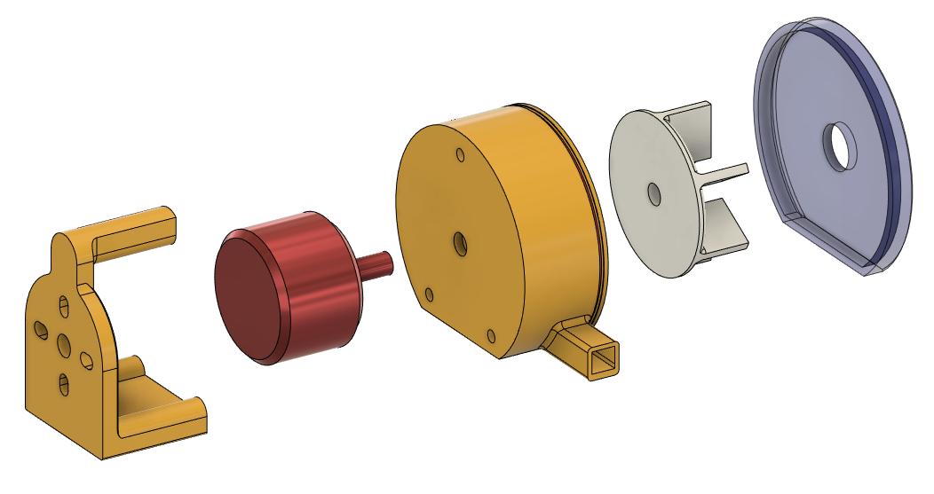 Small DIY 3D printed water pump assembly