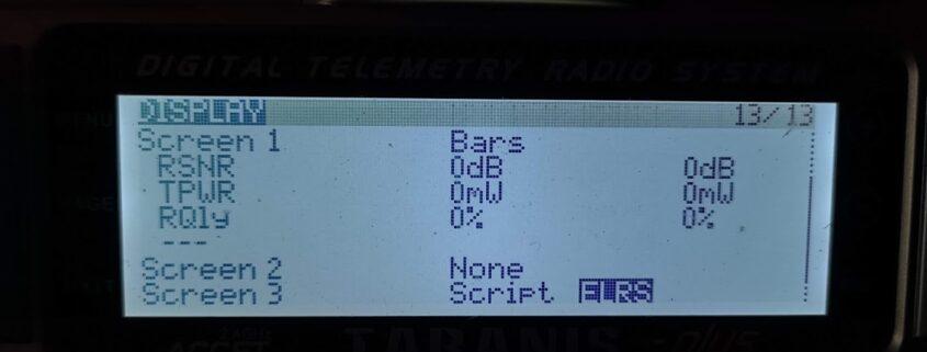 ExpressLRS setting the ELRS Lua script on Taranis